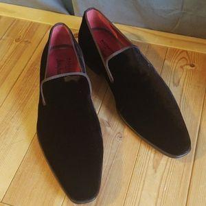Magnanni Brown Velvet Slippers 44